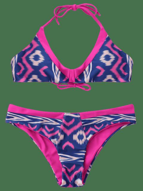 Ensemble de bikini bouclé doublé et cravate - ROSE PÂLE S Mobile