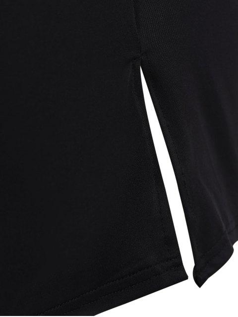Robe mi-longue à manches longues - Noir 3XL Mobile
