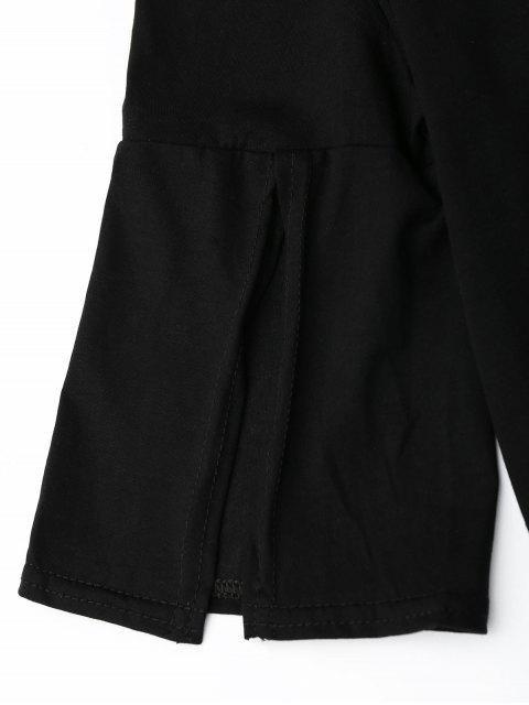 Ensemble de jupe élastique et jupe imprimé - Noir L Mobile