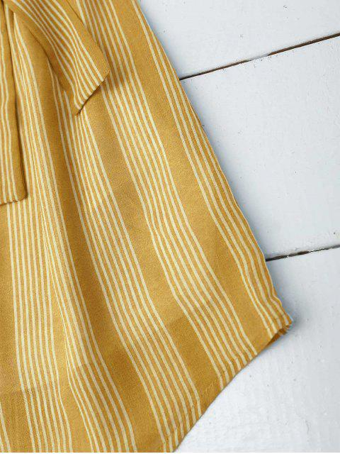 ladies Multi Stripe Off The Shoulder Dress - GINGER XL Mobile