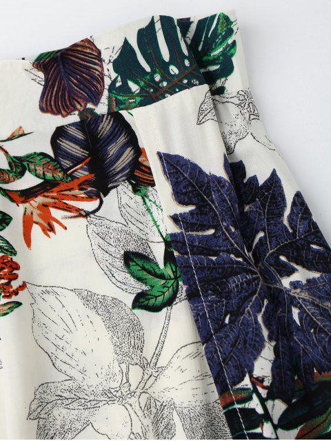 Top imprimé séparé avec jupe à fente - Multi XL Mobile
