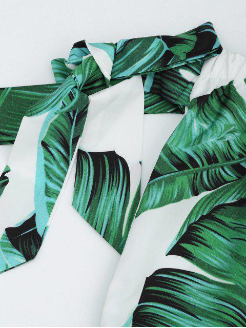 Ensemble de coupe et de shorts en feuilles - Vert XL Mobile