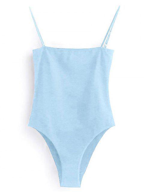 Body à bretelle - Bleu clair S Mobile