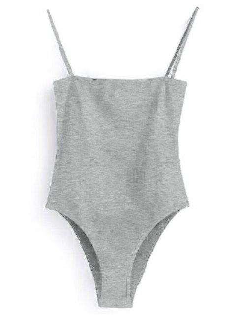 shops Camisole Bodysuit - GRAY S Mobile