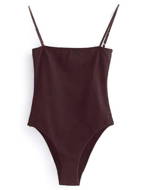 trendy Camisole Bodysuit - WINE RED S Mobile
