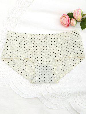Polka Dot Hipster Underwear Panty - Luz Amarilla