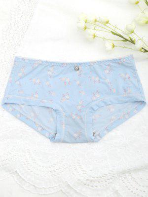 Bajo Smooth Tiny Floral Hipster Panty - Azul Claro - Azul Claro