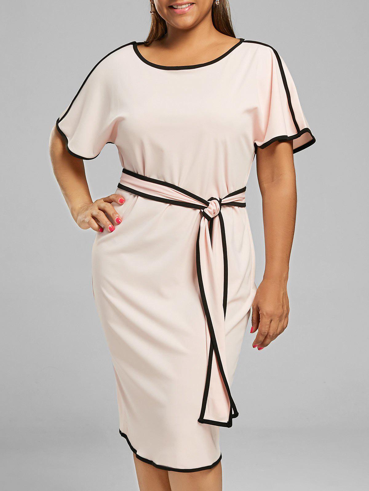 Knee Length Plus Size Modest Dress