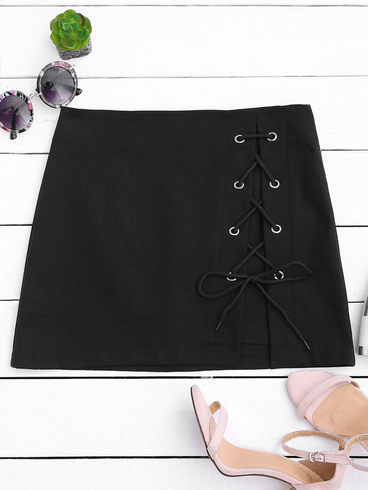 High Waisted Lace Up B