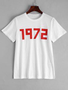 Cotton Number T-shirt - White L