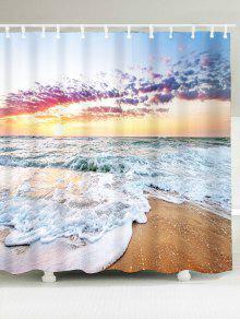 الشاطئ الخلابة حمام النسيج دش الستار - الضوء الأزرق W71 بوصة * L79 بوصة