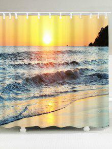 شاطئ الغروب الخلابة ماء دش الستار - W71 بوصة * L79 بوصة