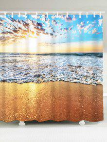 الشاطئ ضوء الشمس حمام دش الستار - W71 بوصة * L79 بوصة