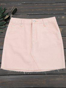 Cutoffs Denim Mini Skirt - Pink M