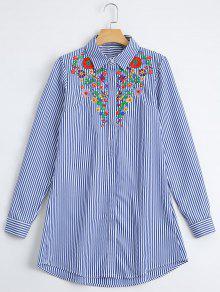 Chemise à Rayures Brodées - Rayure S