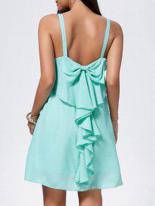 فستان بونوت شيفون مصغر - اخضر فاتح S