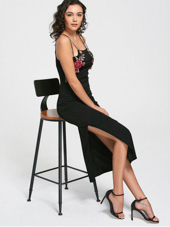 Vestido de manga corta de camisón - Negro Única Talla