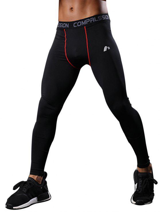 سروال للرياضة سريع الجفاف ذو خصر مطاطي - أحمر 2XL