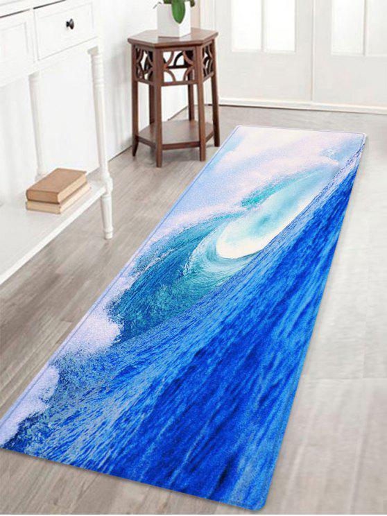 المحيط، أمواج، إقتدى، امتصاص الماء، دائرة، بطانية - أزرق W16 بوصة * L47 بوصة