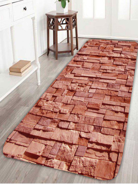 Brick Pattern Extra Large Home Eingangsbereich Teppich BROWN