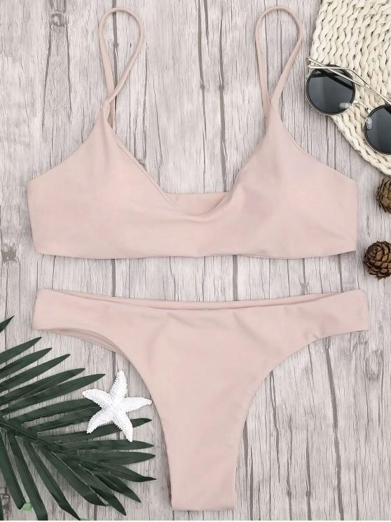 Correa ajustable acolchada de bikini Bralette - Rosado M