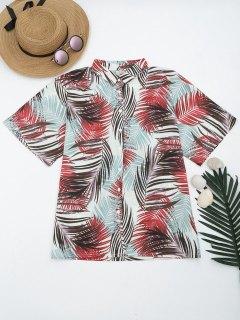 Chemise Boutonnée Imprimée Tropicale  - Multicouleur S