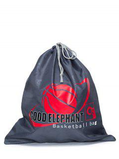 Basketball Printed Drawstring Bag - Deep Gray