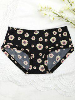 Sunflower Cute Mid Waisted Panties - Black