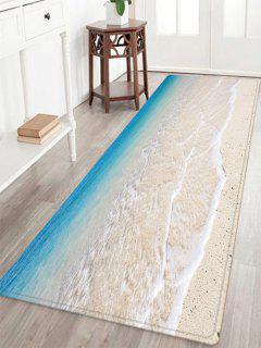 Beach Tidewater Pattern Alfombra De Absorción De Agua - Lago Azul Ancho 24 Pulgadas * Longitud 71 Pulgadas