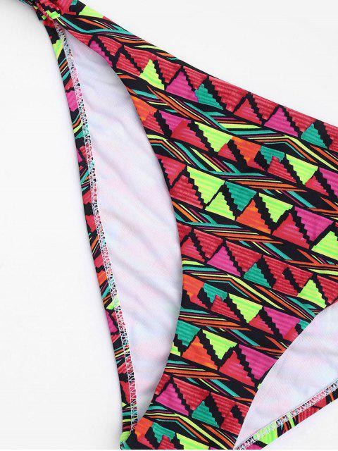 hot Geo Print Underwire Fuller Bust Bikini Set - MULTICOLOR S Mobile