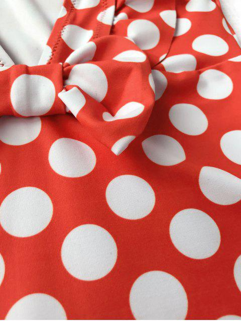 outfit Polka Dot Ruffle Kids One Piece Swimsuit - WHITE AND RED 4T Mobile