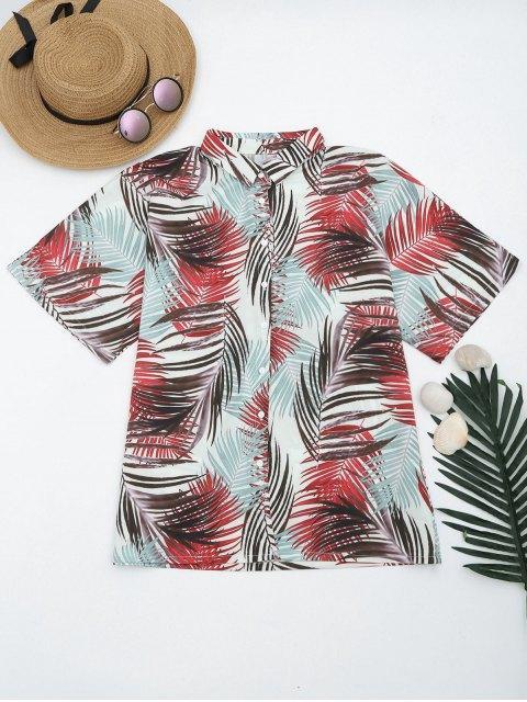 Chemise Boutonnée Imprimée Tropicale - Multicouleur S Mobile
