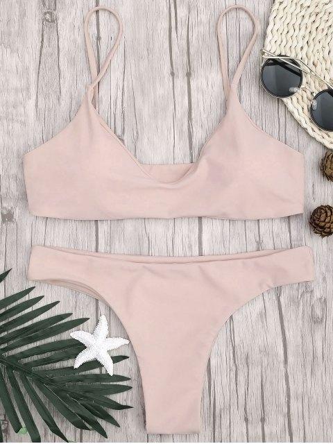 Correa ajustable acolchada de bikini Bralette - Rosado S Mobile