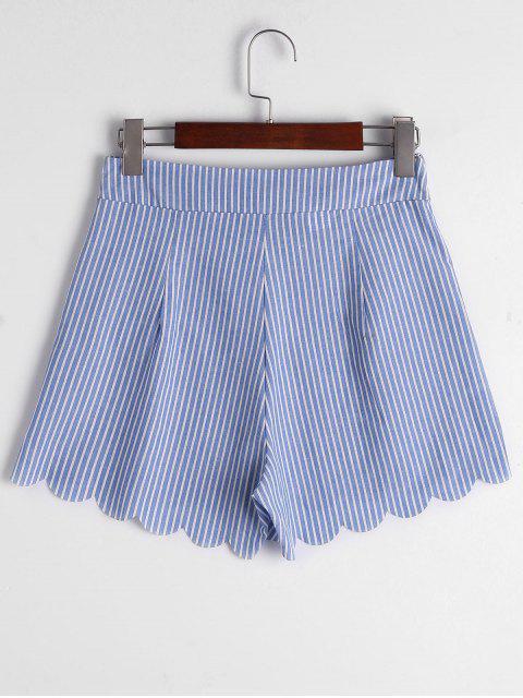 Short à rayures Bowknot à fourrure fessée - Bande Bleu L Mobile