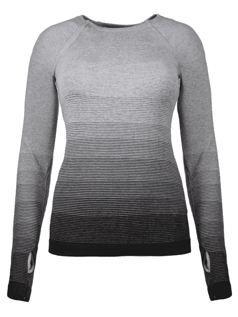 new Ombre Yoga Gym T-Shirt - BLACK M Mobile