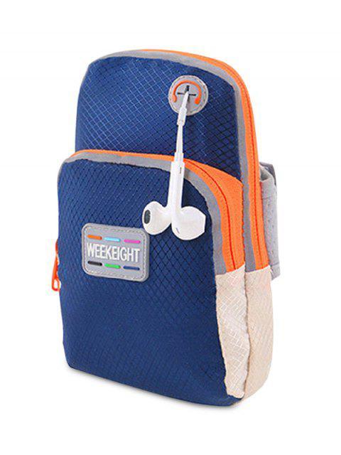 shops Color Block Running Arm Bag - DEEP BLUE  Mobile