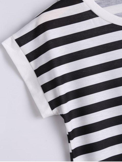 outfits Tassels Embellished Striped Tee - STRIPE XL Mobile