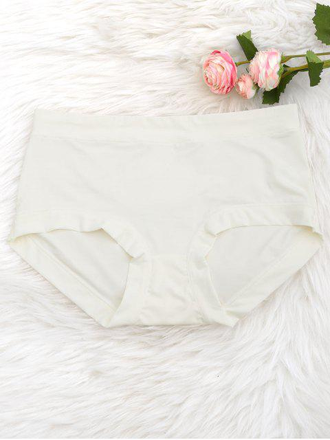 fancy Cosy Plain Hipster Panties - WHITE ONE SIZE Mobile