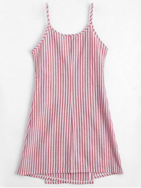 sale Cami Striped Wrap Dress - RED L Mobile