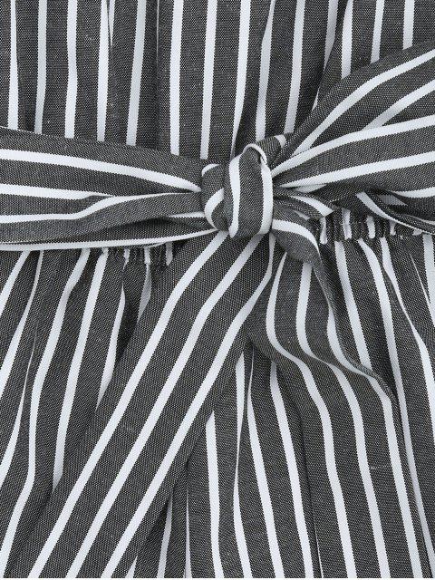 Ceintures avec ceinture à rayures Romper - Gris M Mobile