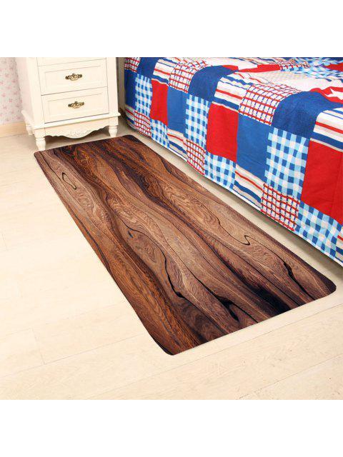 4 off 2019 tapis large antid rapant pour salle de bain ou cuisine motif bois dans brun. Black Bedroom Furniture Sets. Home Design Ideas