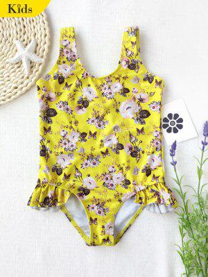 Rund Blumen Rüschen Kind Badeanzug