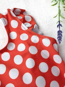 980efa9def 9% OFF] 2019 Polka Dot Ruffle Kids One Piece Swimsuit In WHITE AND ...