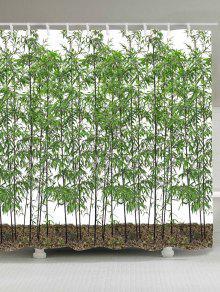 الخيزران الأشجار ماء دش الستار - أخضر W59 بوصة * L71 بوصة