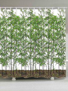 الخيزران الأشجار ماء دش الستار - أخضر W71 بوصة * L79 بوصة