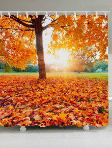 أشعة الشمس شجرة القيقب ليف ماء دش الستار - البرتقالي W71 بوصة * L71 بوصة