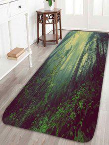 ضباب الغابات المضادة للانزلاق الطابق منطقة البساط - مسود الخضراء W24 بوصة * L71 بوصة