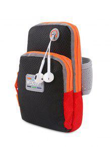 Color Block Running Arm Bag - Black
