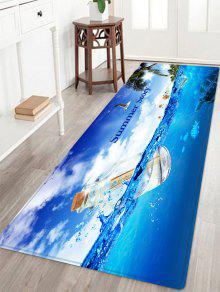 المحيط الانجراف زجاجة نمط امتصاص الماء منطقة البساط - أزرق W24 بوصة * L71 بوصة
