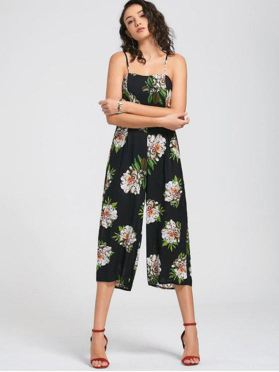 Camisole de impresión floral Cami - Negro XL